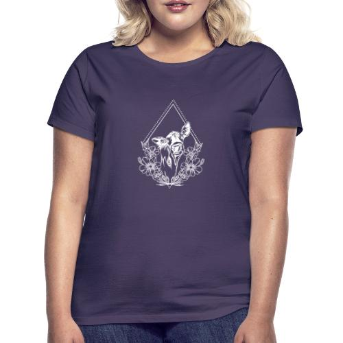 Cow with flowers - Vrouwen T-shirt