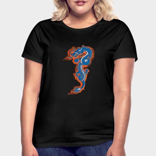 DRAGON AZUL Y NARANJA - Camiseta mujer