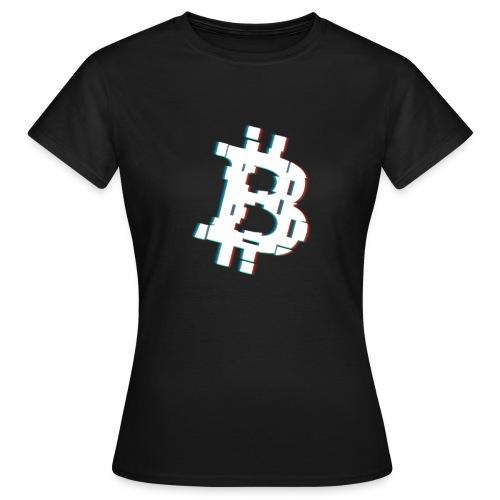 Glitched Bitcoin - Women's T-Shirt