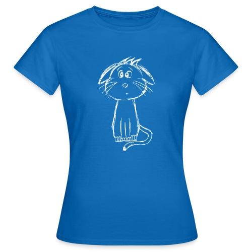 Kissa Kissanpentu valkoinen scribblesirii - Naisten t-paita