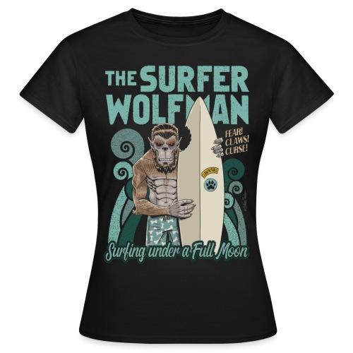 El hombre lobo surfista - Camiseta mujer