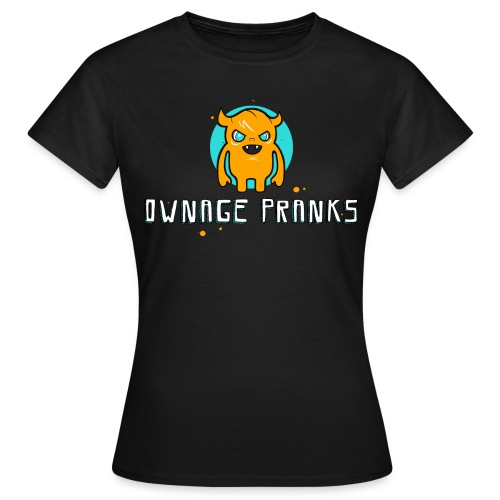 ownagepranks logo orange - Women's T-Shirt