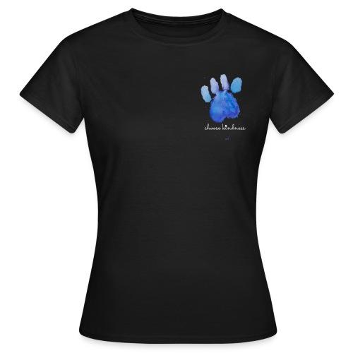 Tierfreund Choose Kindness Hundepfote Wasserfarben - Frauen T-Shirt