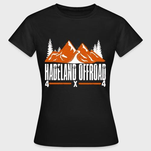 Hadeland Offroad Stor Logo Hvit - T-skjorte for kvinner