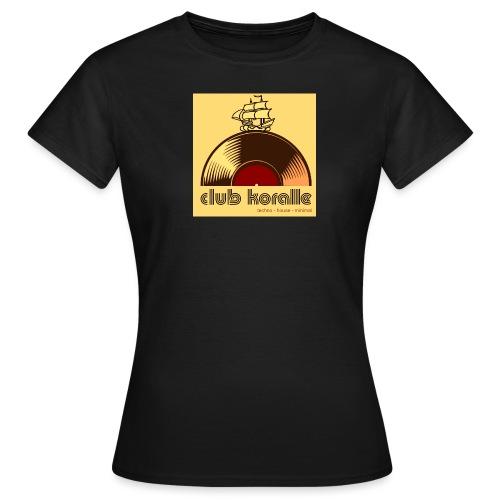 Koralle_ logo groß beige - Frauen T-Shirt