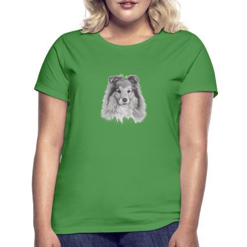 shetland sheepdog sheltie - Dame-T-shirt