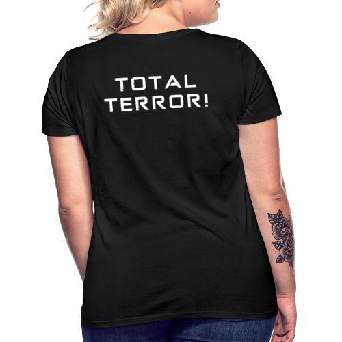 White Negant logo + TOTAL TERROR! - Dame-T-shirt