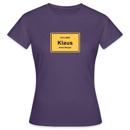 Ortsschild Klaus - Frauen T-Shirt