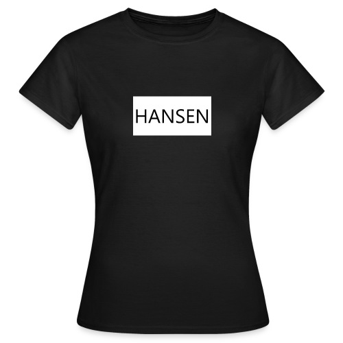 HANSENLOGO hvid - Dame-T-shirt