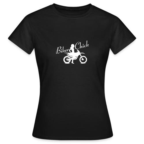 Biker Chick - Dirt bike - Naisten t-paita