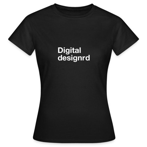 Digital designrd - T-skjorte for kvinner