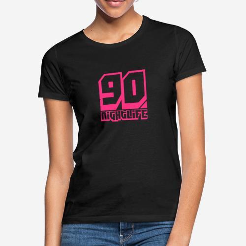 90 Nightlife (logo rosa neon) - Maglietta da donna