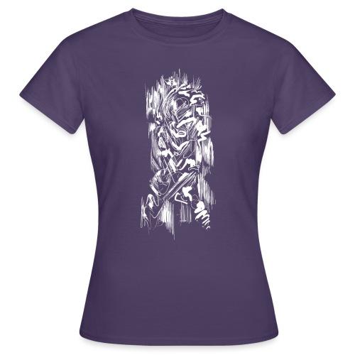 Samurai / White - Abstract Tatoo - Women's T-Shirt