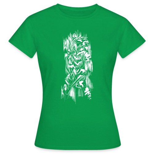 Samurai / White - Abstract Tatoo - Women's T-Shirt