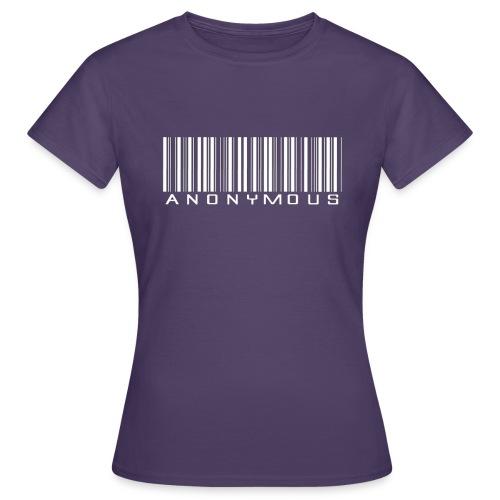 Anonymous Barcode - Naisten t-paita