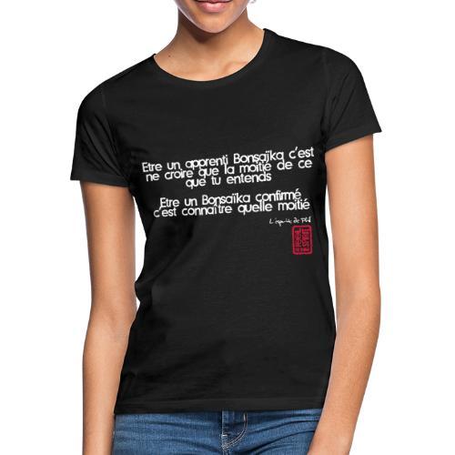 Tablier apprenti bonsaïka - T-shirt Femme