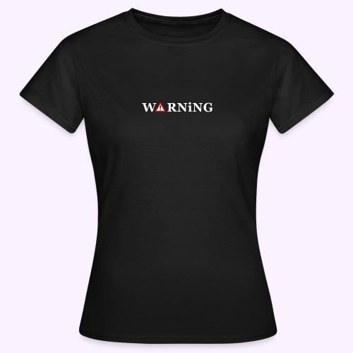 Front Warning Black - Camiseta mujer