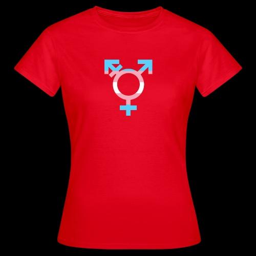 transgender symbol - Koszulka damska