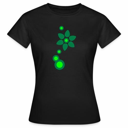Blume und Blasen zweifarbig - Frauen T-Shirt