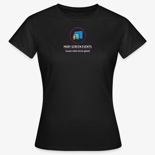 LOGO-MobyScreen+Enseigne- - T-shirt Femme
