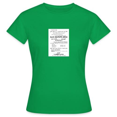 Beautiful Black Woman - Women's T-Shirt