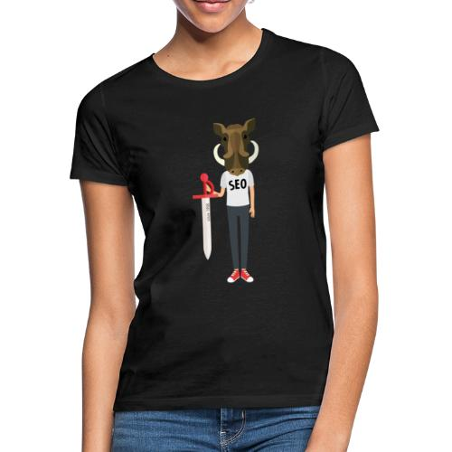 wildsau mensch druck - Frauen T-Shirt