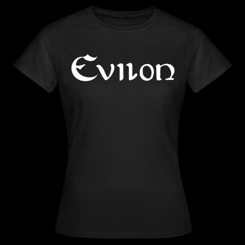 evilonlogga vit - T-shirt dam