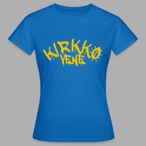 basic keltainen - Naisten t-paita
