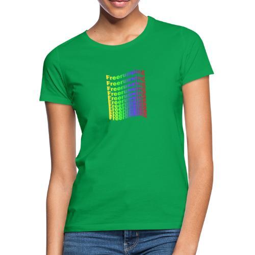 Freerunning Rainbow - Dame-T-shirt