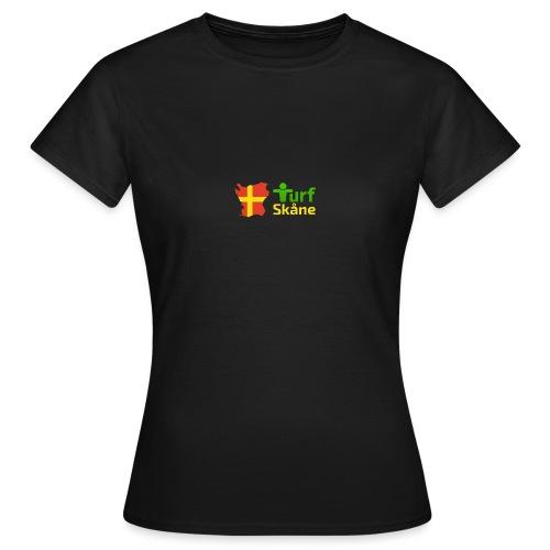 Turf Skåne Logo gul - T-shirt dam