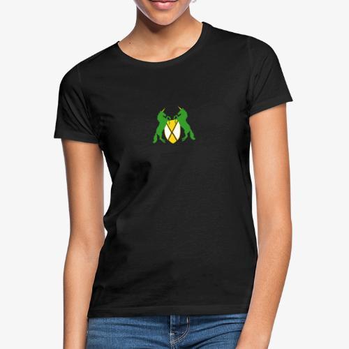Unicorn Heraldry fantasy shield by patjila - Women's T-Shirt