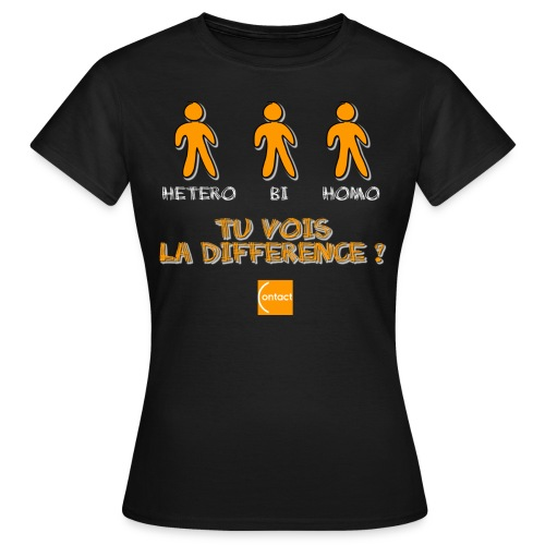 Hétéro, bi, homo : tu vois la différence ? - T-shirt Femme