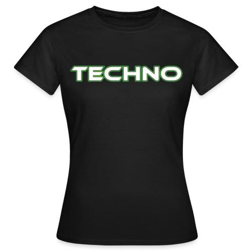 techno white png - Women's T-Shirt