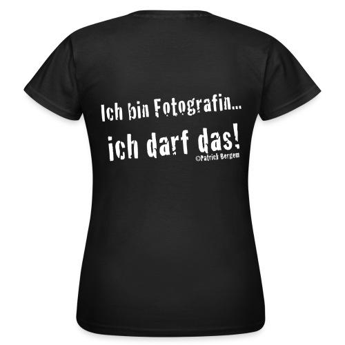 Fotografin.png - Frauen T-Shirt