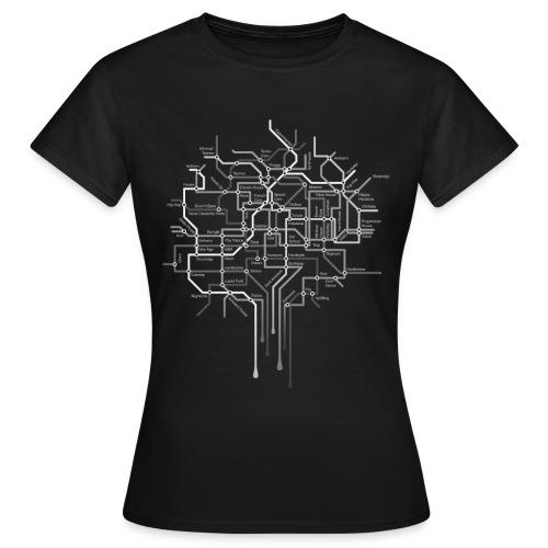 New Tube Black weibl. - Frauen T-Shirt