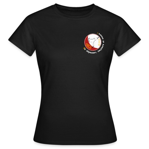 Logo TShirt Noir png - T-shirt Femme