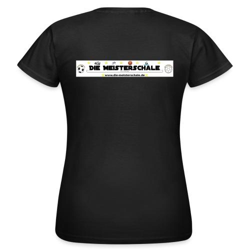 Die Meisterschale Logo Banner Werbung jpg - Frauen T-Shirt