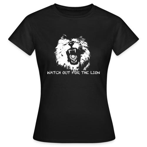 loewe mit schrift - Frauen T-Shirt