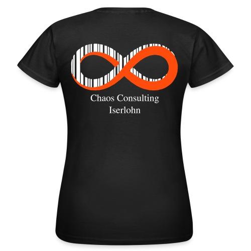 C2IS Logo Text Schwarz - Frauen T-Shirt