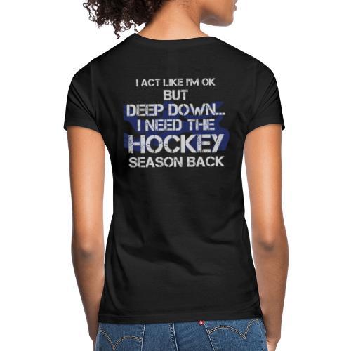 Miss Hockey - Dame-T-shirt