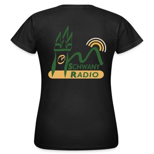 Schwany Logo 20 cm 300dpi trans png - Frauen T-Shirt