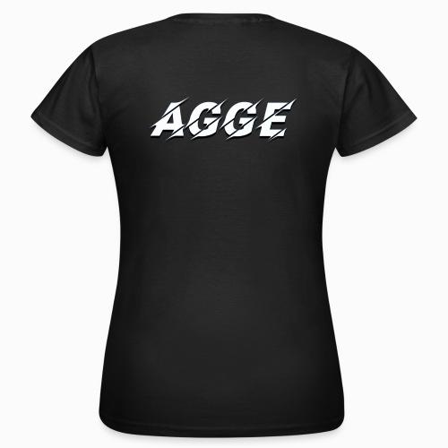 Agge - Vit Logga   Bak - T-shirt dam