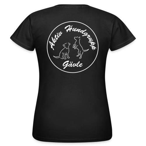 aktiv hundgrupp logo smal - T-shirt dam