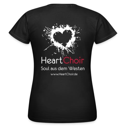 heartchoir logo mit schriftzug und webse - Frauen T-Shirt