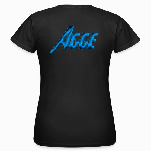 Agge - Blå Logga   Bak - T-shirt dam