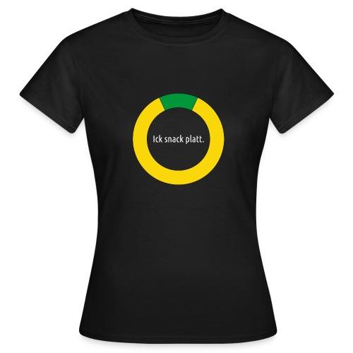 krüsel ick snack platt w - Frauen T-Shirt