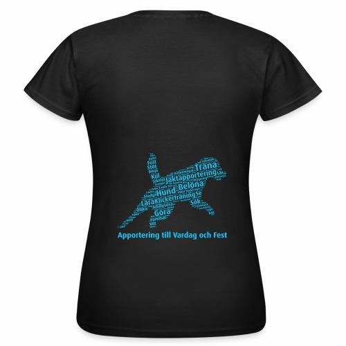 Apportering till vardag och fest wordcloud blått - T-shirt dam