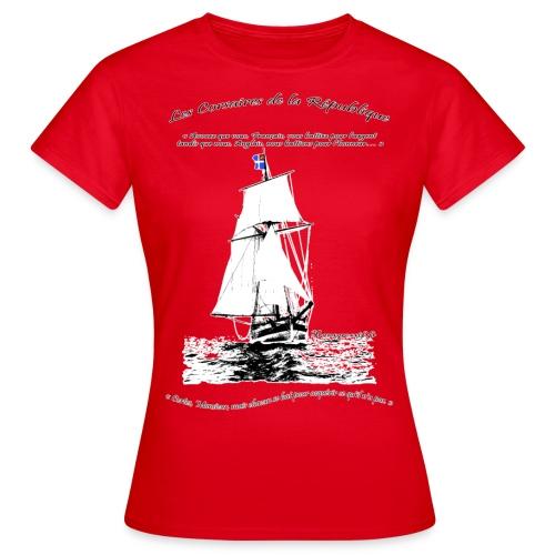 les corsaires de la république RECTO BLANC - T-shirt Femme