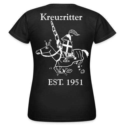 Kreuzritter Logo mit Schrift - Frauen T-Shirt
