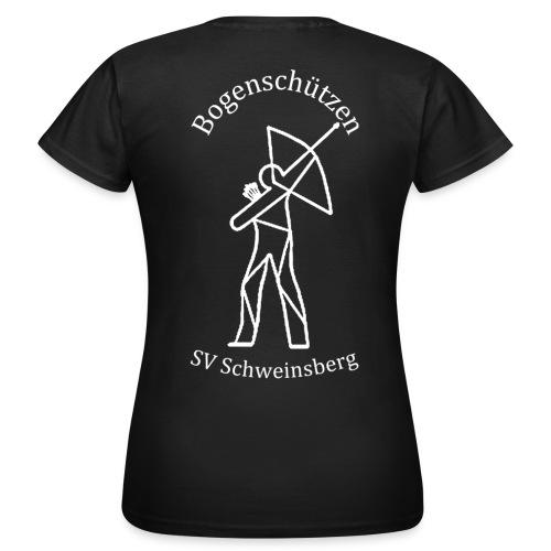 logo bogenschuetzen schweinsberg weiss - Frauen T-Shirt